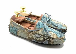 Loafers 'Drive' in printed python Calfskin leather