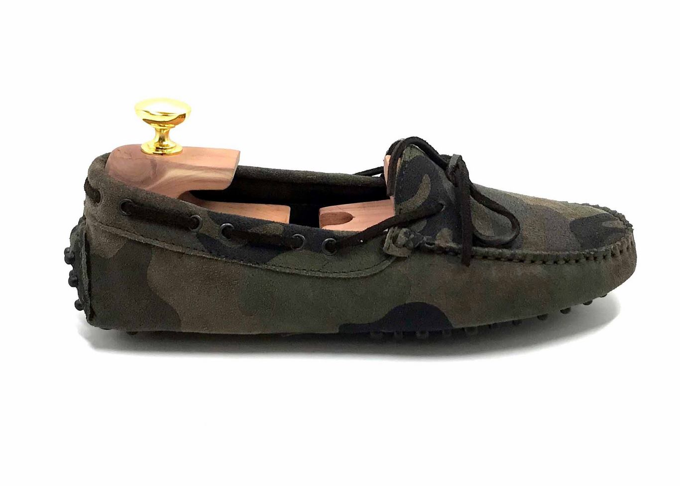 Loafers 'Drive' in suede Camouflage