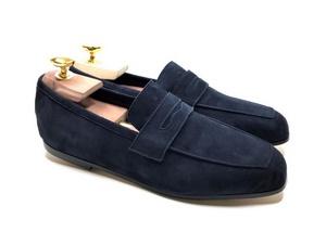 Slip-On Camoscio Navy Blu