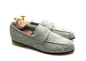 Loafers 'Tasca' in calfskin silkscreened Show Blonde™