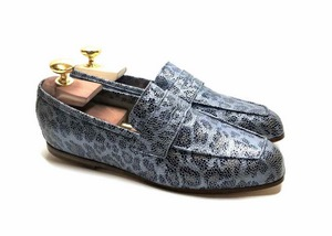 Loafers 'Tasca' in calfskin silkscreened Metis Icep™