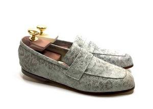 Loafers 'Tasca' in calfskin silkscreened Poller White™