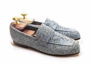 Loafers 'Tasca' in calfskin silkscreened Poller Icep™