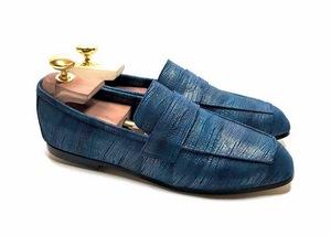 Loafers 'Tasca' in calfskin silkscreened Brachet Orion™