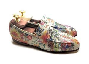 Loafers 'Tasca' in calfskin silkscreened Bach Blonde™