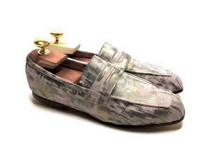 Loafers 'Tasca' in calfskin silkscreened Matu Cipria™