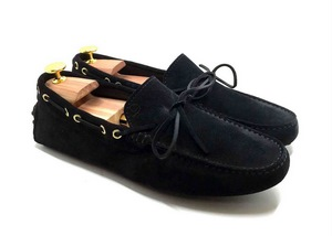 Mocassino Drive in Camoscio Blu Navy