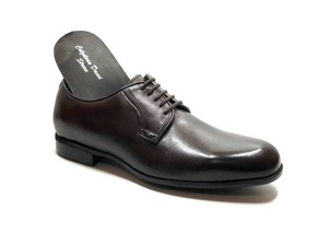 Comfort Laced with removable insoles in dark Brown leather