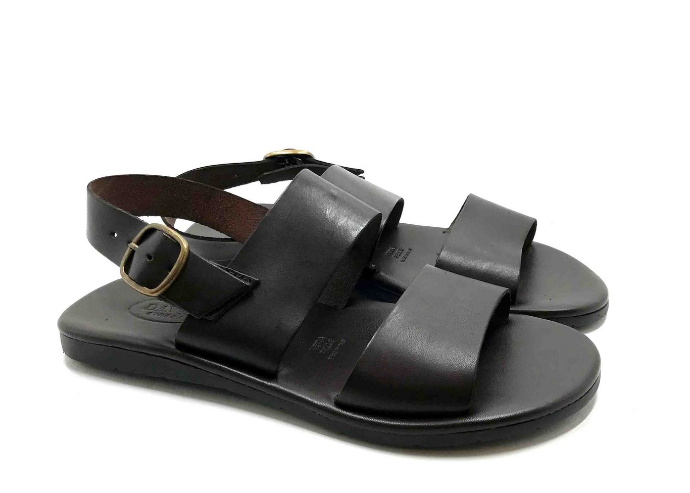 Padded sole Sandals in Brown cowhide leather