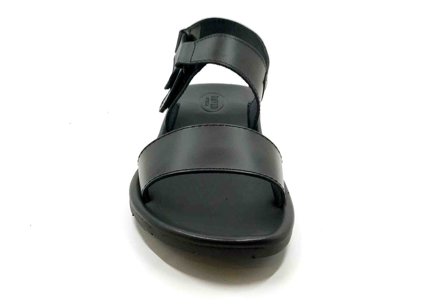 Padded sole Sandals in Black cowhide leather
