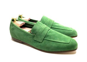 Tasca light Green Suede