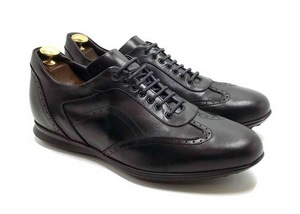 Smart Sneaker in Black calfskin with extractable innersole