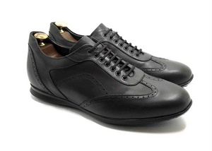Sneaker in vitello Marrone scuro con soletta estraibile