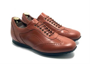 Smart Sneaker in light Brown calfskin with extractable innersole