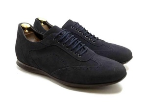 Smart Sneaker in deep Blue suede with extractable innersole