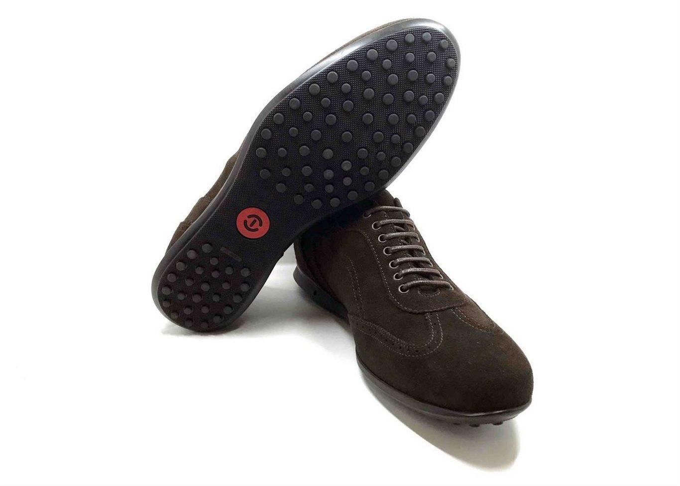 Sneaker in camoscio Marrone scuro con soletta estraibile