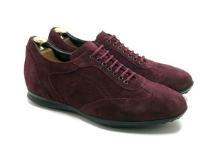 Smart Sneaker in deep Bordeaux suede with extractable innersole
